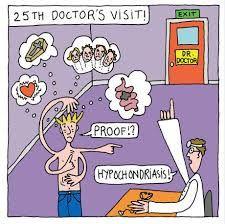 hombre en la consulta del doctor con hipocondría