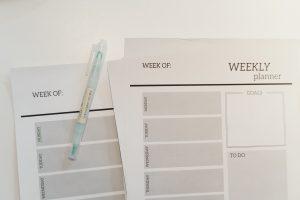 hoja de planificación de tareas